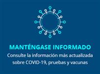 Manténgase Información COVID19